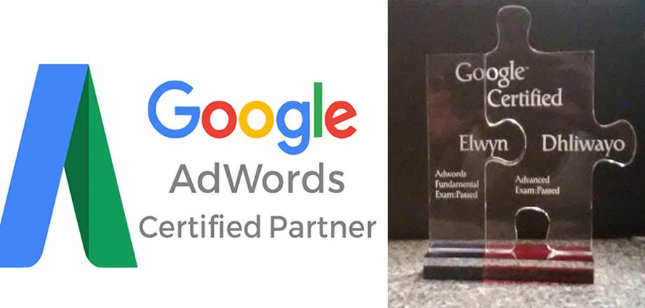 Elwyn Dhliwayo - Google Adwords Certified Professional
